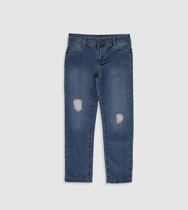 Woven Denim Trousers - Medium Rodeo