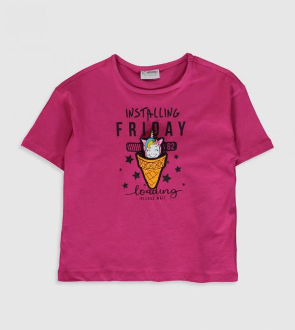 Jersey Body Tshirt Short Sleeves - Fuchsia