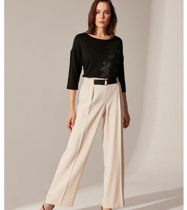 Woven Trousers - Beige