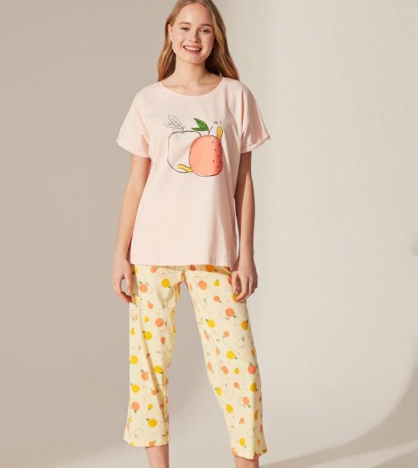 Key Pyjamas Set Short - Light Pink
