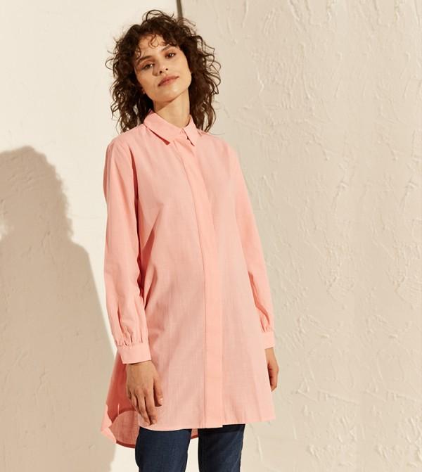 Plain Cotton Tunic-Dirty Pink