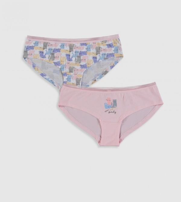 Plain Standard Hipster Single Jersey Brief-Pink