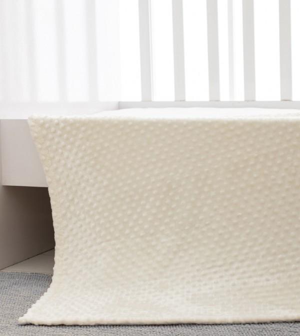 Medium Thickness Welsoft Baby Blanket-Ecru