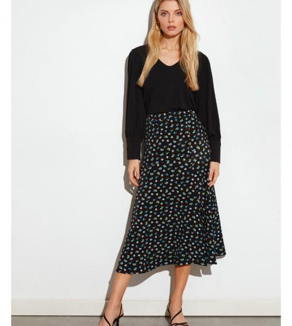 Woven Skirt - Navy Printed
