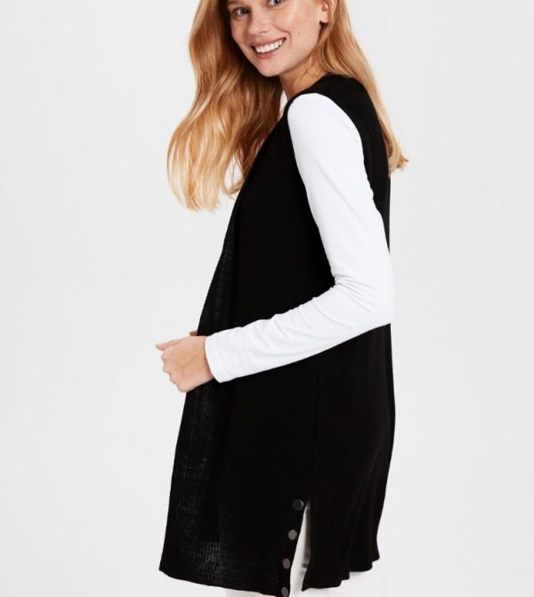 Knitwear Vest - New Black