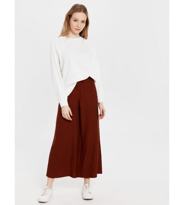 Woven Trousers - Reddish Brown