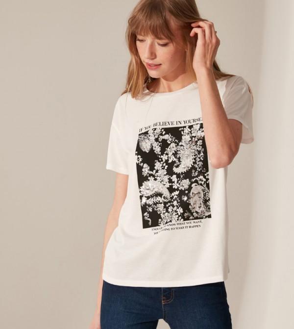 Jersey Body Tshirt Short Sleeves - Ecru