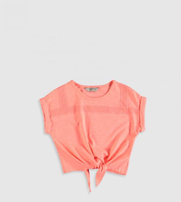 Plain Crew Neck Short Sleeve Standard Thin Single Jersey T-Shirt-Pink