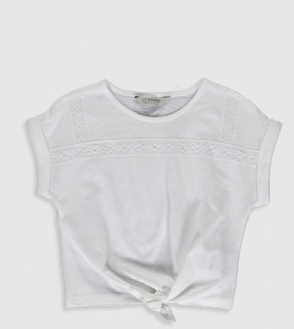 Plain Crew Neck Short Sleeve Standard Thin Single Jersey T-Shirt-White