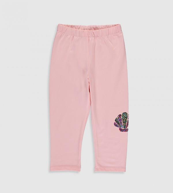 Cotton Leggings-Pink