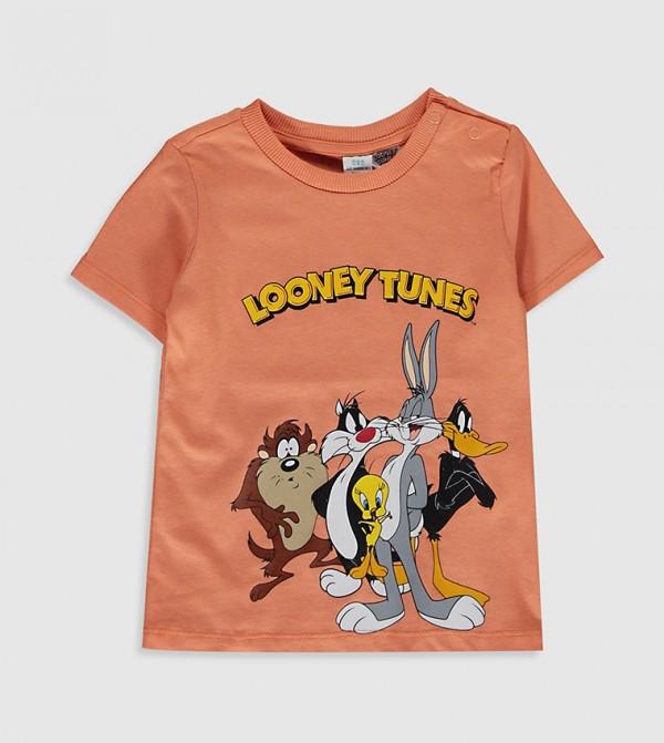 Looney Tunes Printed T-Shirt-Orange