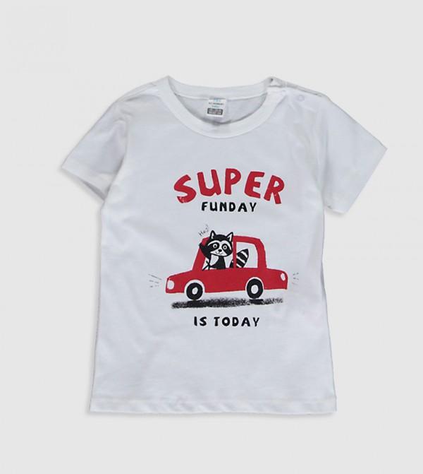 Printed T-Shirt-White