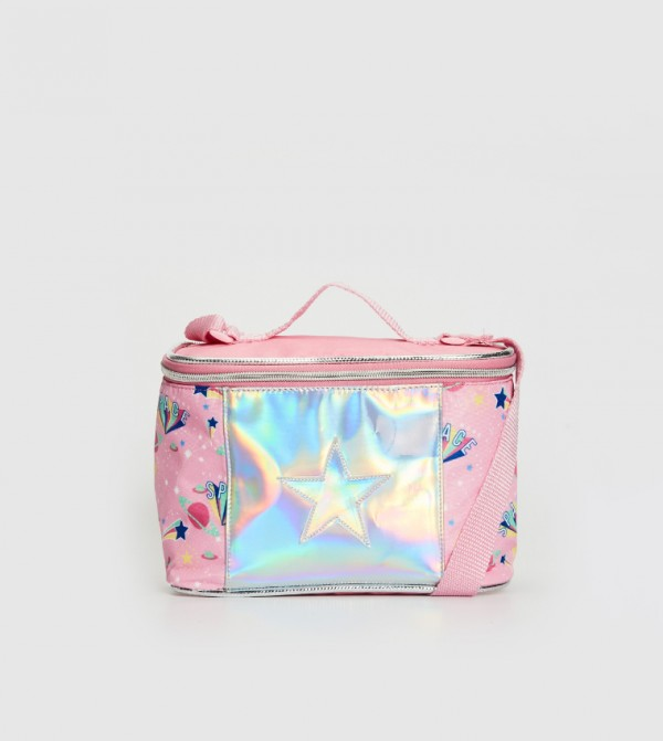 حقيبة غداء مطبوعة بتصميم الهولوغرام
