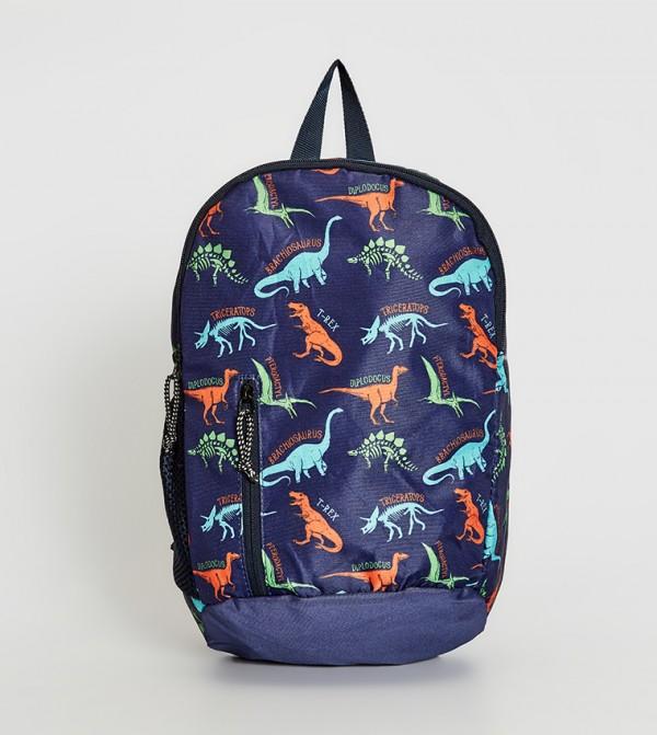 Printed Backpack-Blue