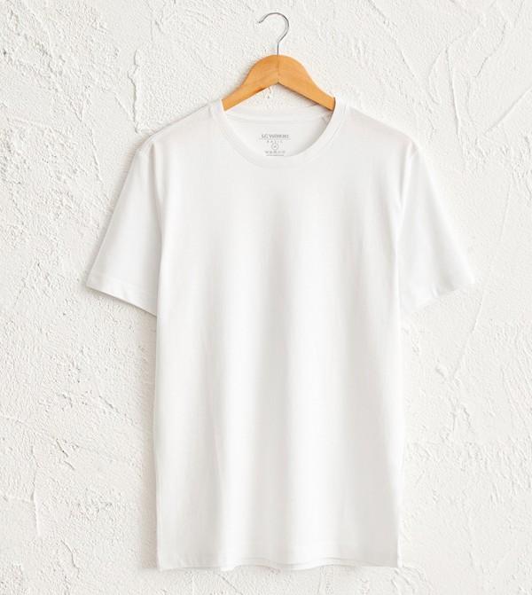 Crew Neck Basic Short Sleeve T-Shirt-White