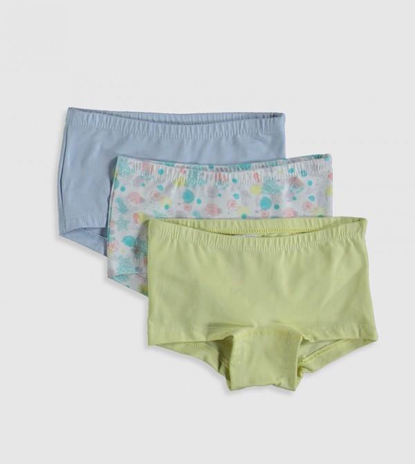3-Pack Cotton Boxers-Blue