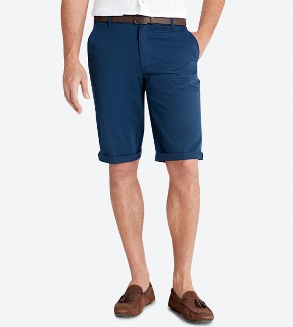 4-Pocket Button Closure Zip Fly Shorts - Navy