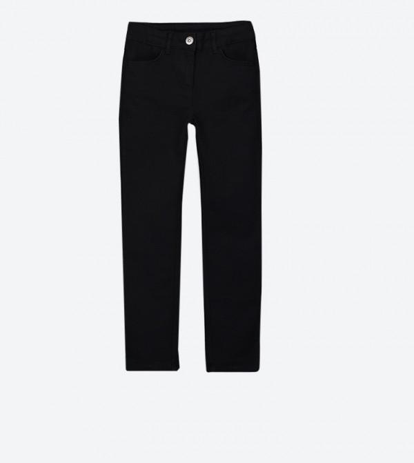 بنطال بأربعة جيوب لون أسود