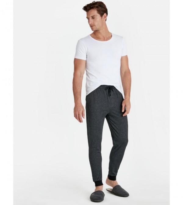Standard Mold Pajama Bottom-Anthracite Strip