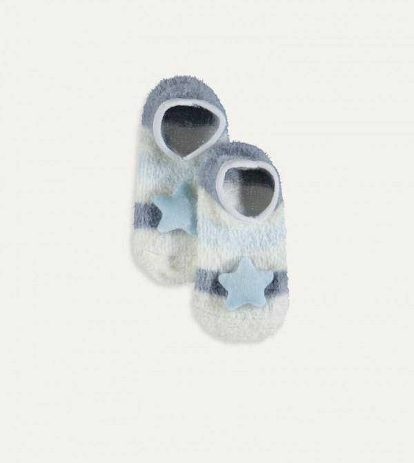 Plush Home Socks-Ecru