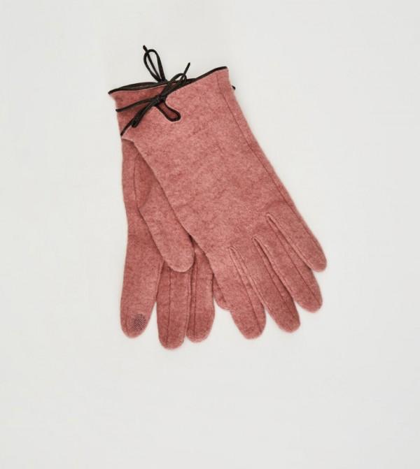 Wool Blend Gloves-Pink