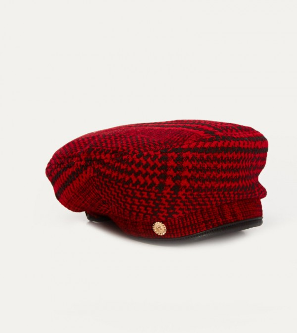 Stamp Painter Hat-Red Checked
