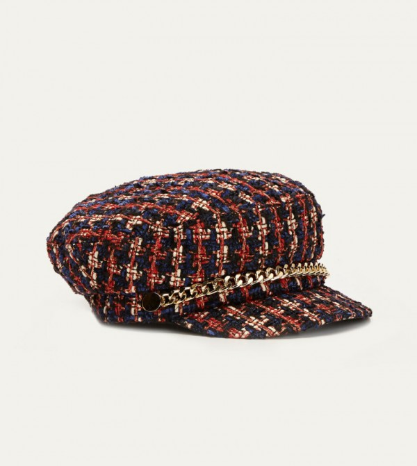 Tweed Sailor Hat-Mix Yarn Dyed
