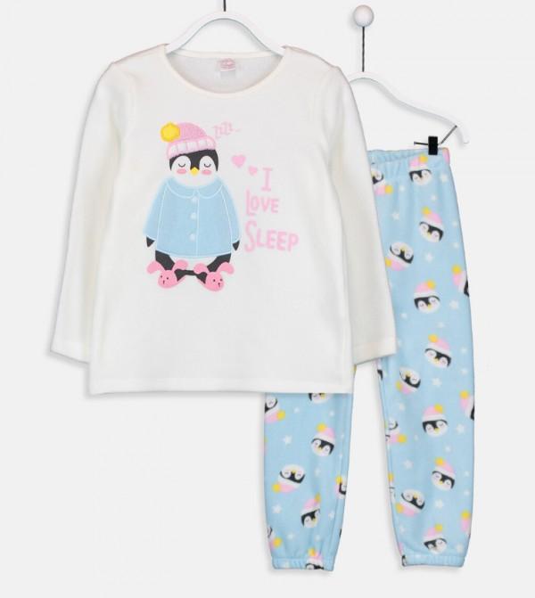 Polar Pajamas Set-Ecru