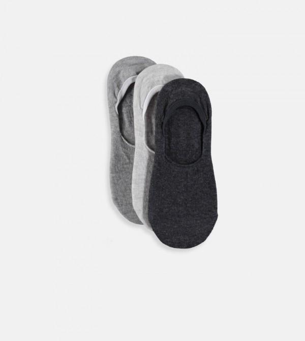Babet Socks 3 Pieces-Grey Melange