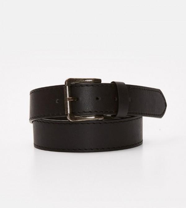 Leather Look Belt-Black