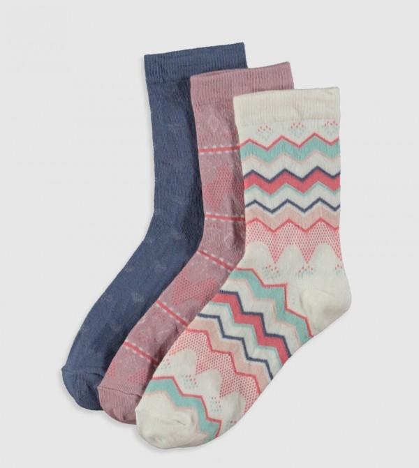 جوارب منقوشة 3 قطع
