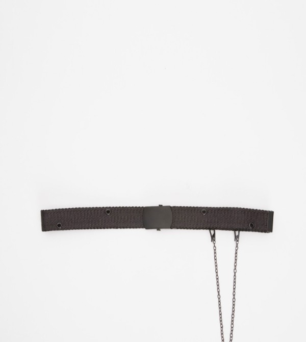 Chain Belt-Dark Grey Melang