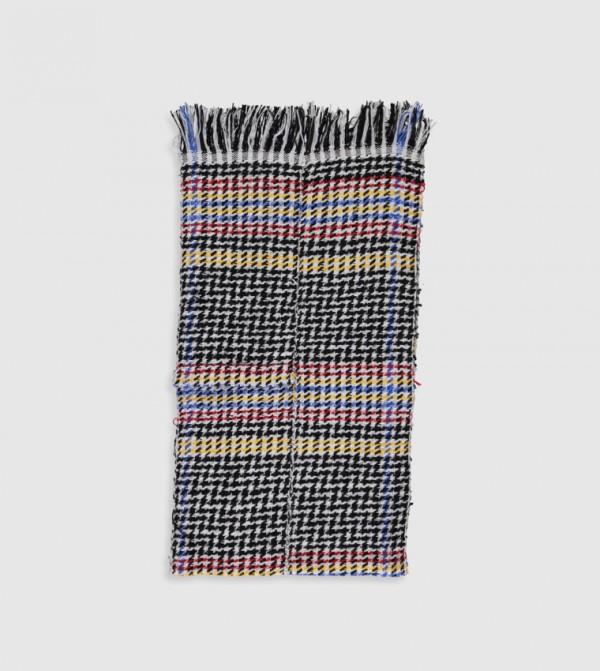 Fringed Scarf-Mix Yarn Dyed