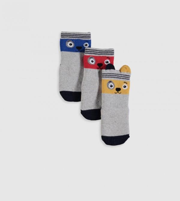 Thick Socket Socks 3 Pieces-Bright Blue