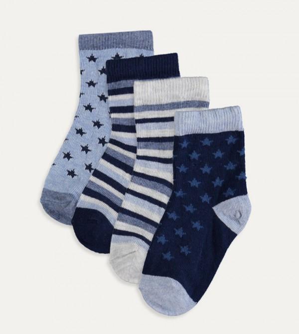 Socket Set Of 4-Mix Yarn Dyed