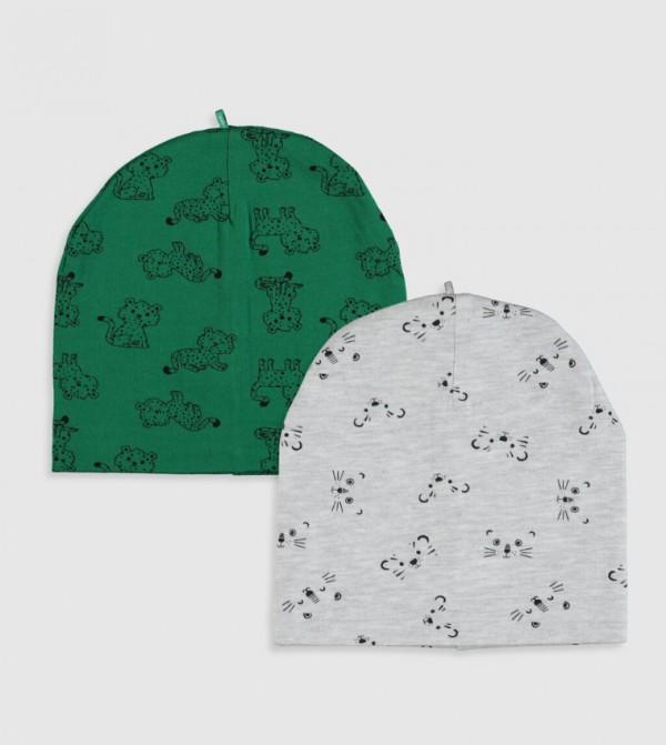 قبعة صغيرة مطبّعة قطعتين