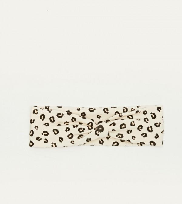 Cotton Headband-Ecru Printed