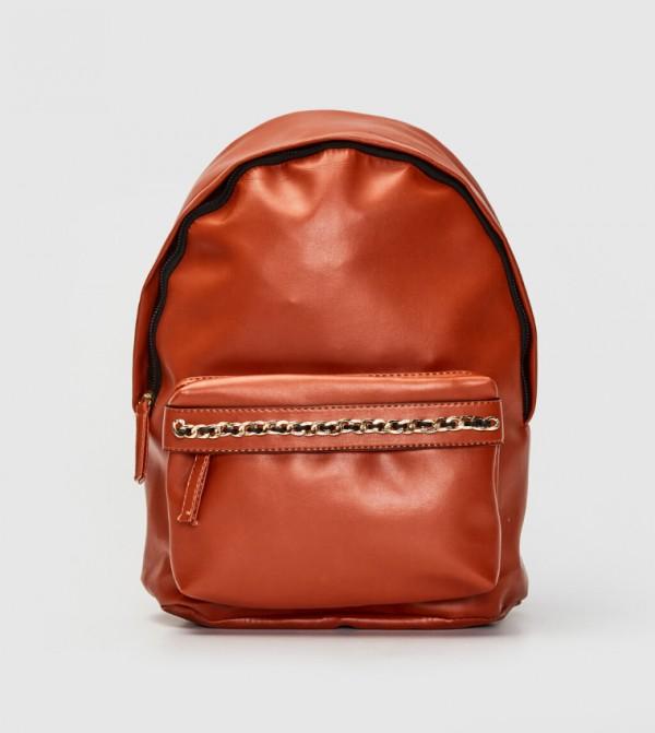 حقيبة ظهر جلدية