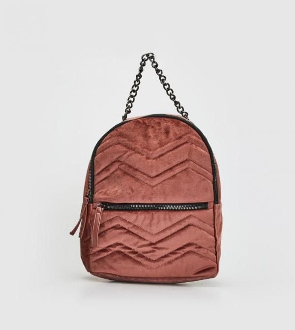 حقيبة ظهر منقوشة مبطنة
