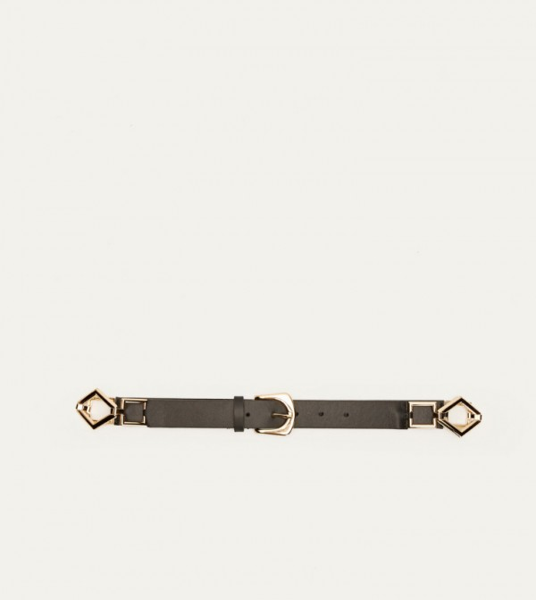Leather Look Belt-Black