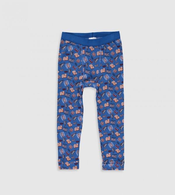 Cotton Underwear-Navy Printed