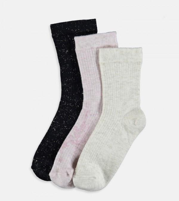 Socket Socks 3 Pieces-Black