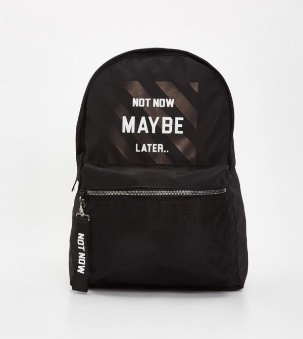 حقيبة ظهر بطبعة شعار
