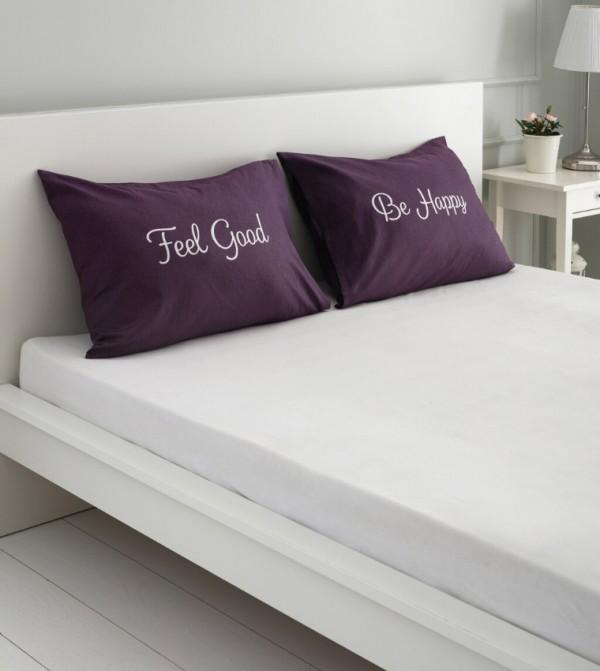 Pillow Case 2 Pcs-Purple