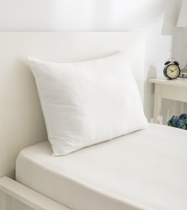 Bead Fiber Pillow-White