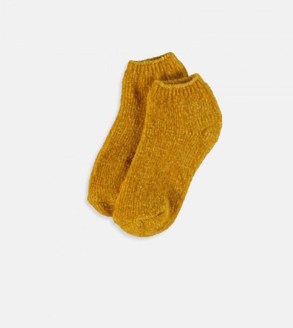 Velvet Home Socks-Mustard Yellow