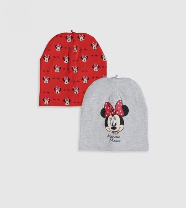 قبعة صغيرة مطبّعة بشكل ميني ماوس قطعتين