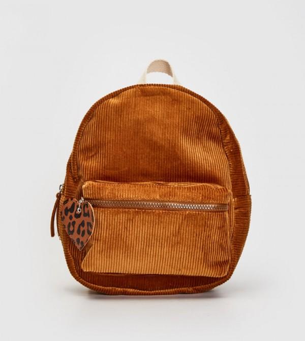 Velvet Backpack-Beige