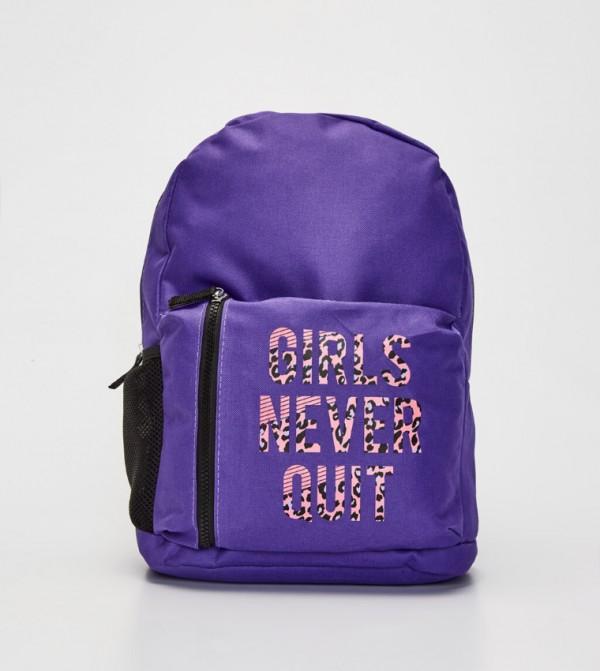 Letter Printed Bag-Light Purple