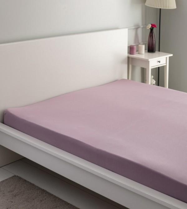 Double Elastic Cotton Cotton Combed Sheet-Dark Lilac